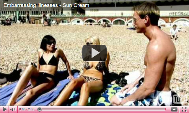 YouTube video about sun cream