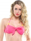 Extra bow bright pink (for bandeau or in your hair) 1