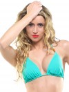 Green triangle bikini top