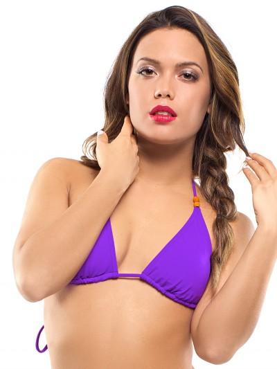 Purple triangle bikini top