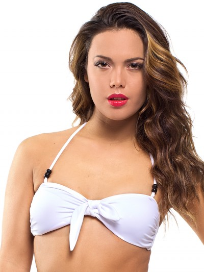 Extra bow white (for bandeau or in your hair) 1