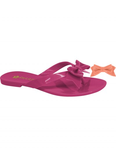 Pink flip-flops exchangeable bow