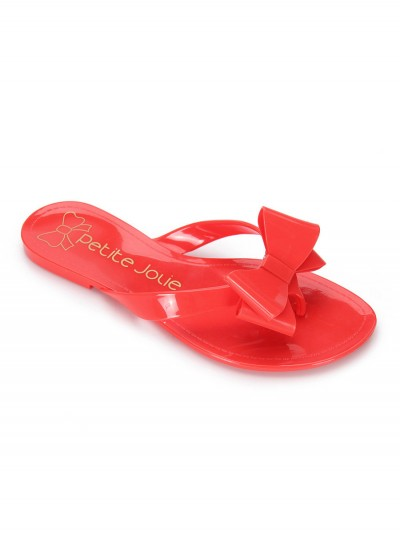 Red flip-flops bow 4
