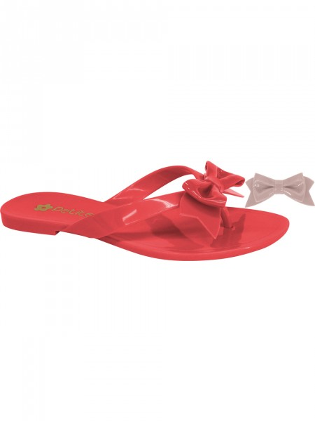 Red flip-flops exchangeable bow