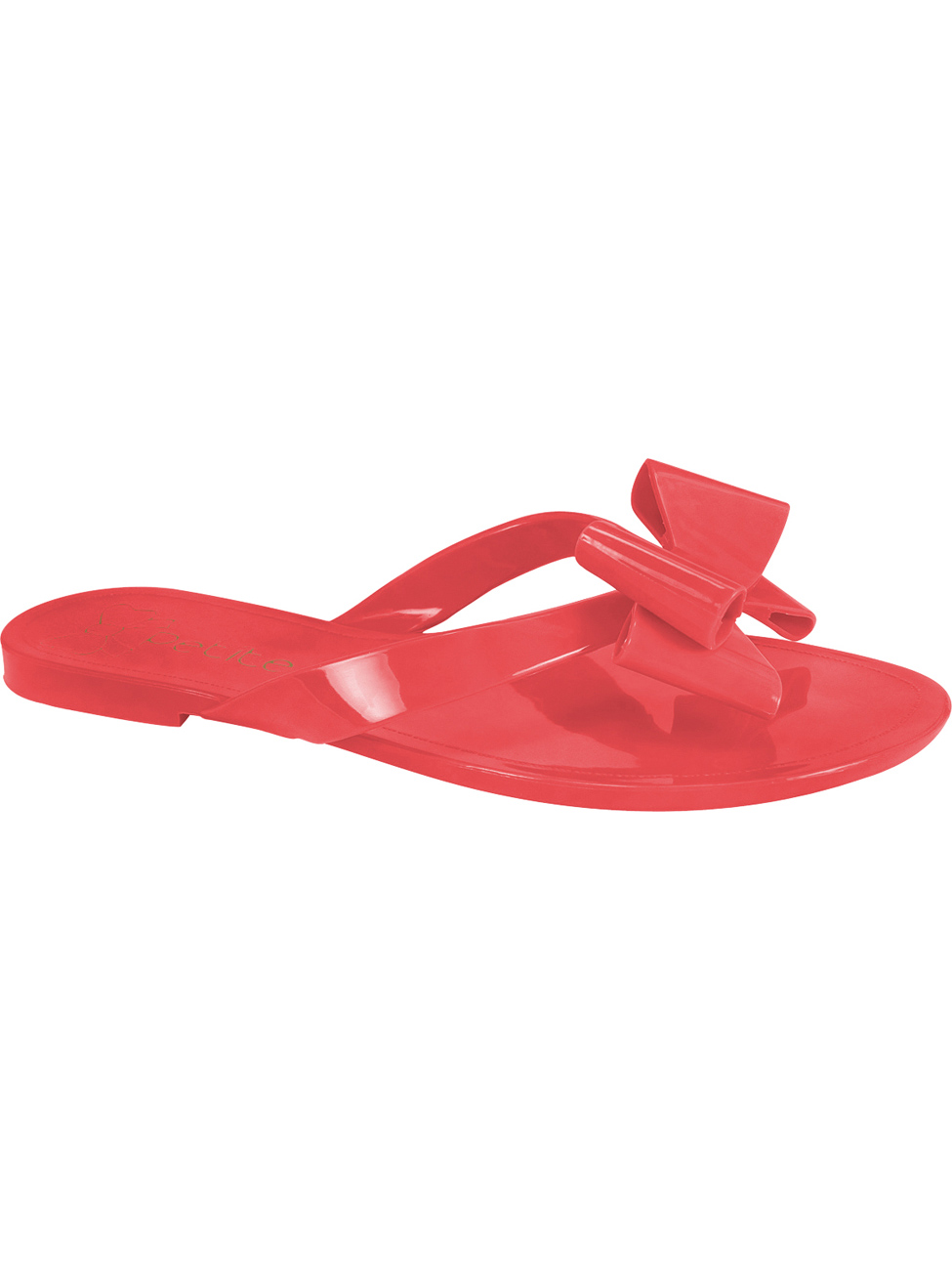 Red bow flip-flops